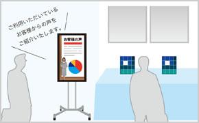 イベント・展示会場での商品説明用に使う